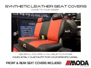 Coverking Moda Synthetic Leather Front And Rear Seat Covers For Dodge Ram