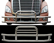 Deer Guard / Stainless / Cascadia / Volvo Vnl Brackets Included/ Pickup Only