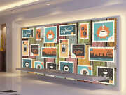 Ample Dismal Stamp 3d Full Wall Mural Photo Wallpaper Printing Home Kids Decor