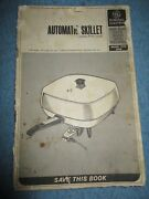 Vintage C 1965 General Electric Ge Automatic Skillet User Manual 22 Pgs 400