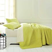 250 3pc Rochelle Lime Green Bedding Collection 1 Quilt Cover 95x105 2 Shams New