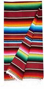 Medium Blanket / Table Runner Authentic Mexican Colorful Serape Blankets