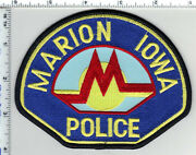Marion Police Iowa Shoulder Patch - New From The 1980's