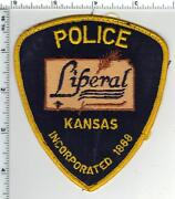 Liberal Police Kansas Uniform Take-off Shoulder Patch - From The 1980's