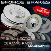 F+r Rotors And Pads For 2000-2007 Chevrolet Suburban 2500 6.0l W/ 2 Wheel Steering