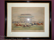 James Pollard 1792-1867race For The Derby Stakes At Epson 1839aquatint_rare