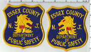 Essex County Dept Of Public Safety New Jersey Left-right Shoulder Patch Set