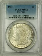 1921-s Vam-1ay Morgan Silver Dollar Coin Pcgs Ms-62 Missing S Finest Known