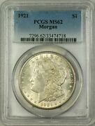 1921-s Vam-1ay Morgan Silver Dollar Coin Pcgs Ms-62 Missing S, Finest Known