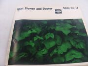 Vintage Stihl Sg-17 Mist Blower And Uster Instruction And Parts Manual...rare