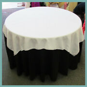 30 Pcs. Overlay 58 X 58 Square Polyester Tablecloth Wholesale Seamless 50 Colors