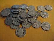 Roll 1949 D Key Date Silver Roosevelt Dimes Circulated 50 Coins