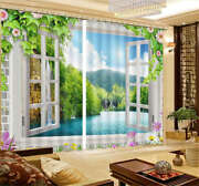 Scenery Outside Window 3d Curtain Blockout Photo Printing Curtains Drape Fabric