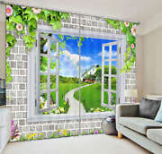 A House On Broad Lawn 3d Curtain Blockout Photo Printing Curtains Drape Fabric