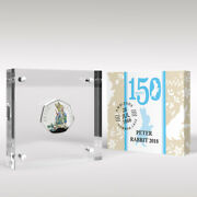Peter Rabbit 2018 50p Coin Beatrix Potter Silver Proof Style Display
