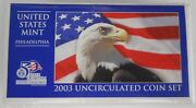 2003 P And D United States Mint Uncirculated Coin Set - Lot Of 5 100 Coins