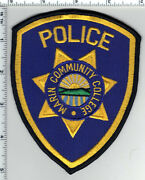 Marin Community College Police California Shoulder Patch - New 1990's