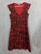 Moschino Jeans Vintage 90s Nyc Neighborhods Graphic Dress Us 8