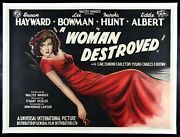 A Woman Destroyed ✯ Cinemasterpieces Movie Poster Sexy Red Dress Susan Hayward