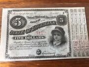 State Of Louisiana Five Dollar 5.00 United States Bond Approved In April 1880.