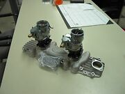 Nos Eddie Meyer 59a Ford Mercury Flathead Intake + New Strombergs + Fuel Block