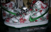 New Nike Dunk Sb High Concepts Ugly Christmas Sweater Grey Sz 8 Ds Xmas Gray