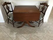 Antique Drop Leaf Table And 6 Chairs