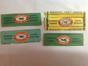 4 Different Beech Nut Brand Chewing Gum Wrappers, No Gum