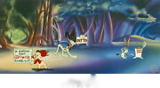 Warner Brothers Bugs Bunny And Porky Pig Cel Corny Concerto Rare Clampett Cell