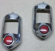 1951-1952 Chevrolet Tail Light Bezels P/nand039s 5940033 Lot Of 2 P/nand039s 5940033