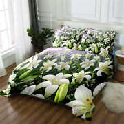 Confederate Lily 3d Printing Duvet Quilt Doona Covers Pillow Case Bedding Sets