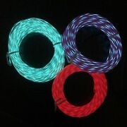 Moving Neon El Wire Festival Rope Lighting W/ Speed Control Chasing Flowing