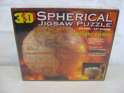 3d Spherical Jigsaw Puzzle Antique Globe 530 Pieces-new And Factory Sealed