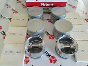 Pistons And Ring Set Of 6 +.020 Oversize Fits Datsun 810 And Maxima 81-84 2.4 L