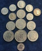 Lot Of 14 Switzerland 20th Century Coins + 1881 10 Rappen - Free Shipping Usa