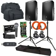 Jbl Professional Eon615 15 Powered Dj Pa Speakers + Covers + Bluetooth Receiver