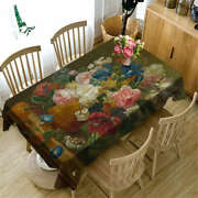 Vintage Flowers 3d Tablecloth Table Cover Cloth Rectangle Wedding Party Banquet