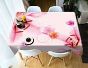 Peach Blossom 3d Tablecloth Table Cover Cloth Rectangle Wedding Party Banquet