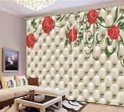 Bright Roses Antique 3d Curtain Blockout Photo Printing Curtains Drape Fabric