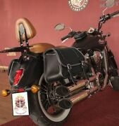 Italian Leather Sioux Left And Right Side Saddlebag Fits Indian Scout Motorcycle