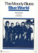 The Moody Blues Blue World Sheet Music-piano/vocal/guitar/chords-1983-rare-new