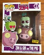Funko Pop Invader Zim Series Zim And Gir On The Pig Hot Topic Exclusive
