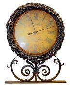 Large Adjustable And Battery-powered Wrought Iron Street Clock By Timeworks Inc.