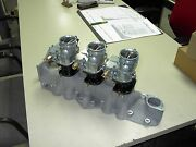 Nos Offy Offenhauser 42-48 59a Ford Mercury Flathead Stromberg 97 3 Carb Intake