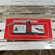 American Flyer S Gauge 1994 Merry Christmas Holiday Boxcar--item 6-48321