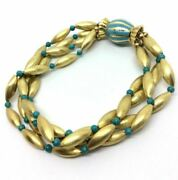 Armband Vintage Jahre And03960 Gold Massiv 18k Mit Emaille Italy Made In Italy