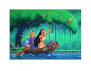 Disneyand039s Pocahontas Original Painting For Puzzle And Package Cover
