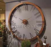 5 Foot Hammered Copper Xl Wall Clock 60andrdquo Modern Mid Century