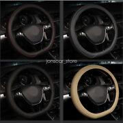 38cm15inch D Type Flat Bottom Car Steering Wheel Cover Pu Leather