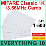 Mifare Classic 1k S50 13.56mhz Pvc White Ic Mf1s50 Chip Hf Nfc Rfid Nxp Iso Card